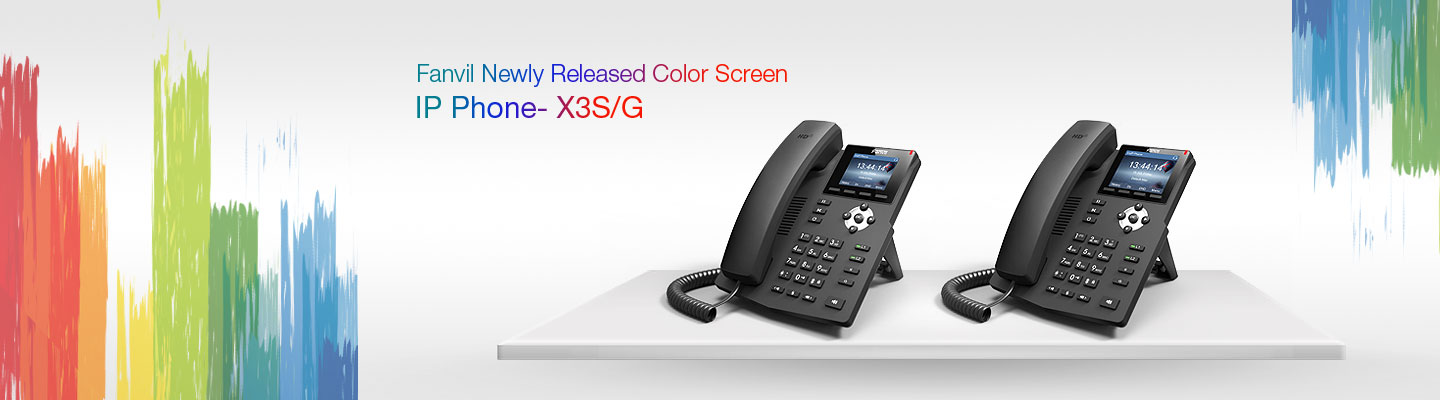 Fanvil Introduces new X3S entry level color screen IP Phone